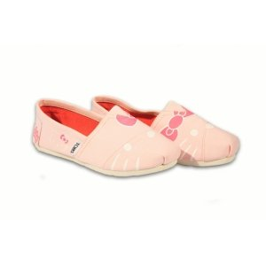 Pink Multi Houndstooth Kids TOMS Classics