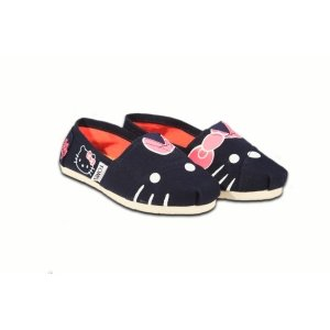 Navy Multi Houndstooth Kids TOMS Classics