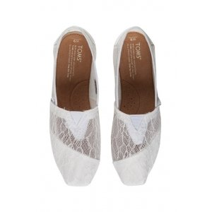 White Lace Leaves Women