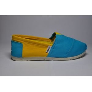Blue and Yellow Canvas Womens Classics